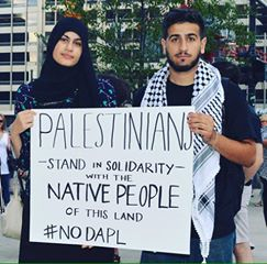 Palestinians in solidarity with first nation water protectors