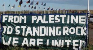 Palestinians in solidarity with Standing Rock water protectors