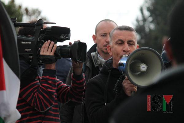 Village leader addresses demonstration in Kafr Qaddum