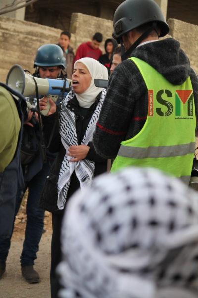 Member of the PA addresses demonstration