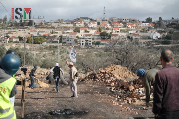 Illegal settlements built right next to village of Kafr Qaddum
