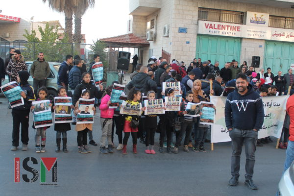 Children out in force at Bethlehem demonstration demanding return of martyrs' bodies