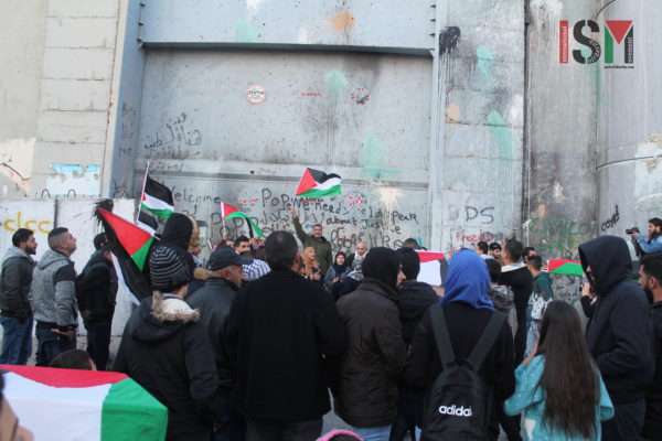 Demonstration continues after march to apartheid wall