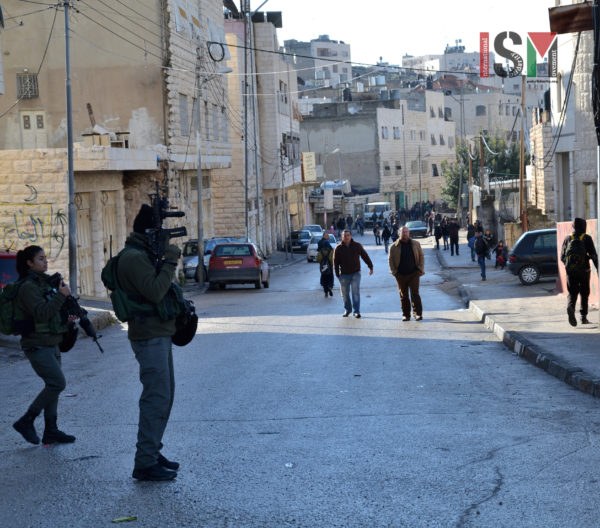 Israeli forces invaded the Palestinian neighborhood of Salaymeh, looking for school children involved in throwing rocks at Israeli military checkpoint.