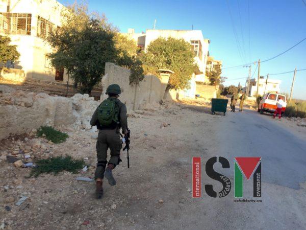Israeli military inside Kafr Qaddum