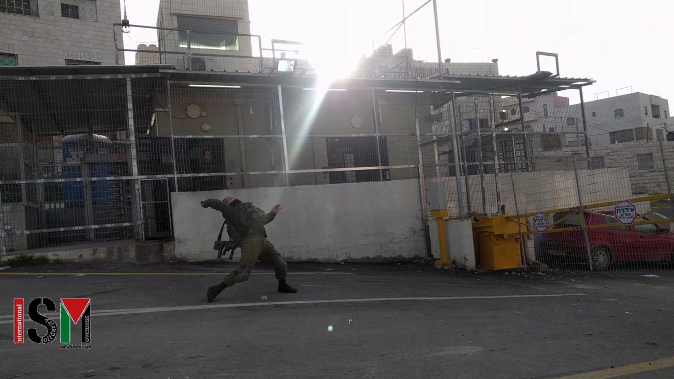 Soldier uses stun grenade on school children at Salaymeh
