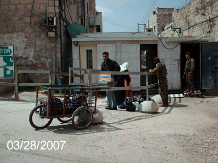 Tel Rumedia checkpoint, photo ISM Hebron