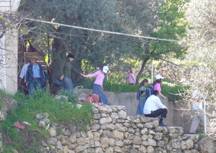 Settlers evacuate Palestinian property