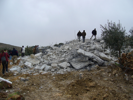 Demolished Palestine home in Halul
