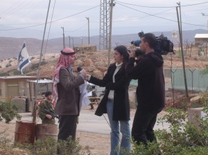 Local man interviewed by Abu Dabi TV