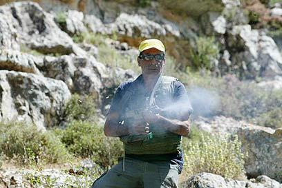 Guard shooting at journalists, Photo AFP